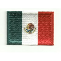 Patch embroidery and textile FLAG MEXICO 7CM x 5CM