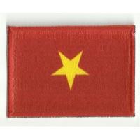 Parche bordado y textil BANDERA VIETNAM 7CM x 5CM