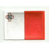 Parche bordado y textil BANDERA MALTA 4CM x 3CM