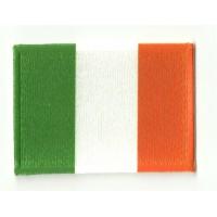 Parche bordado y textil BANDERA IRLANDA 4CM x 3CM