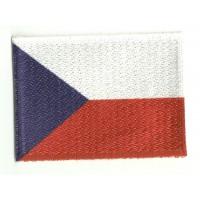 Parche bordado y textil BANDERA REPUBLICA CHECA 4cm x 3cm