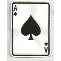 Patch embroidery ACE OF SPADES 3cm x 4cm