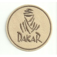 Patch embroidery DAKAR BEIG 3,5cm