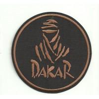 Parche bordado DAKAR NEGRO 3,5cm