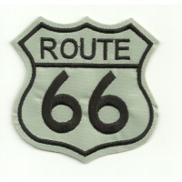 Patch embroidery ROUTE 66 GRIS 3,5cm x 3,5cm
