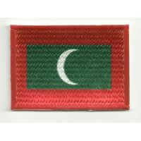 Parche bordado y textil BANDERA MALDIVAS 4CM x 3CM