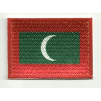 Patch embroidery and textile FLAG MALDIVES 4CM x 3CM