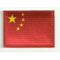Parche bordado y textil BANDERA CHINA 7CM x 5CM
