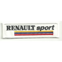 Patch embroidery RENAULT SPORT WHITE ANTIGUO 10cm x 3cm