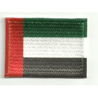 Patch embroidery and textile FLAG UNITED ARAB EMIRATES 7CM X 5CM
