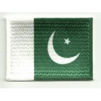 Parche bordado y textil BANDERA PAKISTAN 7CM x 5CM