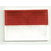 Patch embroidery and textile FLAG INDONESIA 4CM x 3CM
