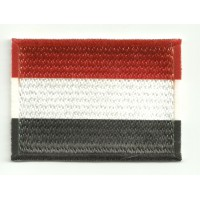 Patch embroidery and textile FLAG YEMEN 7CM x 5CM