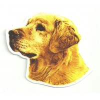 Parche textil GOLDEN RETRIEVER 8cm x 7,5cm