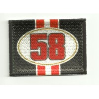 Patch textile and embroidery FLAG 58 SIMONCELLI 7cm x 5cm
