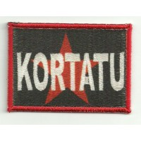 Embroidery patch and textile KORTATU 7cm x 5cm