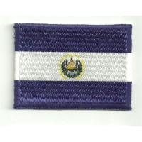 Parche bordado y textil BANDERA SALVADOR 4cm x 3cm