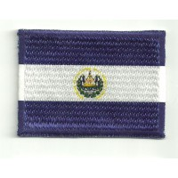 Patch embroidery and textile FLAG SALVADOR 4cm x 3cm