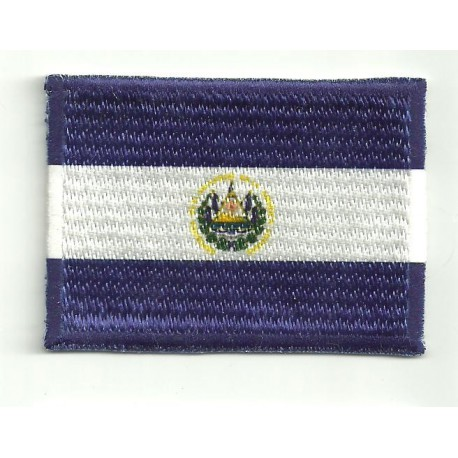 Patch embroidery and textile FLAG SALVADOR 7cm x 5cm