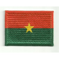 Patch embroidery and textile FLAG BURKINA FASO 4cm x 3cm