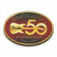 Textile patch FENDER 50TH ANNIVERSARY 9cm x 6cm