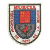 Textile patch FEDERACION D CAZA DE LA REGION DE MURCIA 6cm x 7,5cm
