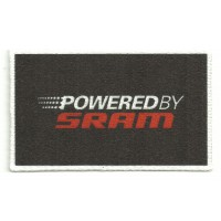 Textile patch POWERED BY SRAM 8cm x 4,5cm