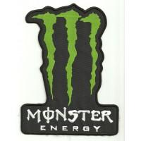 Parche bordado MONSTER ENERGY NEGRO 3cm x 4cm