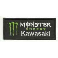 Parche bordado KAWASAKI MONSTER ENERGY 10cm x 4cm