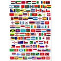 Patch embroidery and textile ANY FLAG of the WORLD 4cm x 3cm