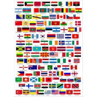Patch embroidery and textile ANY FLAG of the WORLD 7cm x 5cm