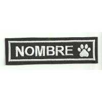 Embroidery Patch THE NAME OF YOUR PET 16cm X 5 cm