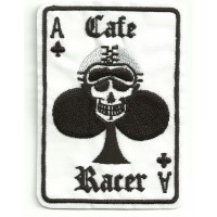 Parche bordado AS DE TREBOL CAFE RACER 6,5cm x 9cm