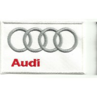 Patch embroidery AUDI BLANCO 9cm x 5,5cm