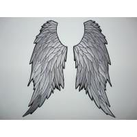 Parche bordado 2 ALAS ANGEL 9,5cm x. 20cm cada ala