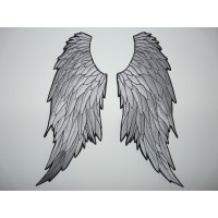 embroidery patch 2 ANGEL WINGS 4,5cm x 10cm each wing