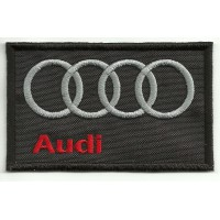 Patch embroidery AUDI NEGRO 9cm x 5,5cm