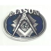 Textile patch MASON 9cm x 6,5cm