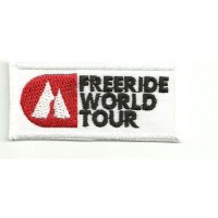 embroidery patch FREERIDE WORLD TOUR 9cm x 4,5cm