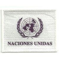 Parche bordado NACIONES UNIDAS 4cm x 3cm