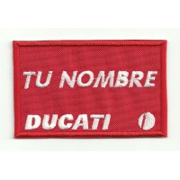 Embroidery Patch DUCATI WITH YOUR NAME 8cm X 4,5cm