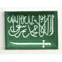 Parche bordado y textil ARABIA SAUDI 7CM x 5CM