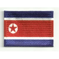 Patch embroidery and textile COREA DEL NORTE 4CM x 3CM