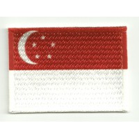 Patch embroidery and textile SINGAPUR 4CM x 3CM