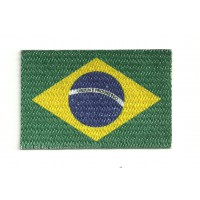 Textile and embroidery patch BRASIL flag 4cm x 3cm