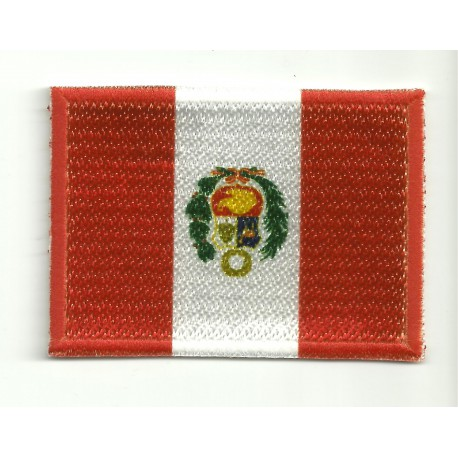 Patch embroidery and textile FLAG PERU 4CM x 3CM