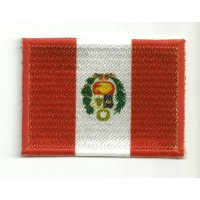 Patch embroidery and textile FLAG PERU 7CM x 5CM