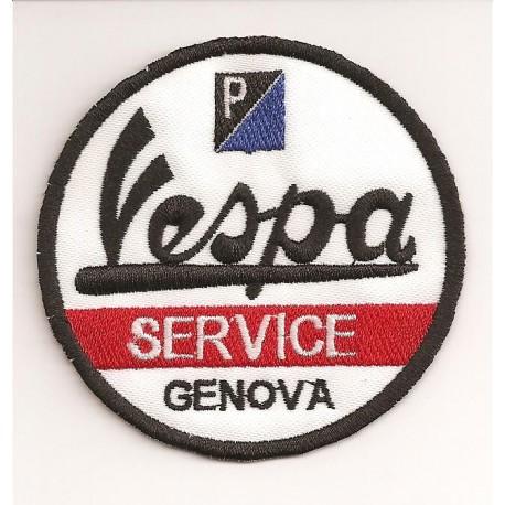 Patch embroidery VESPA SERVICE 3cm