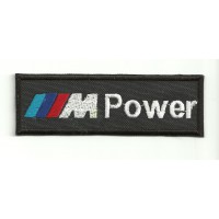"Patch embroidery M POWER "" BMW "" 4,5cm x 1,5cm"