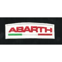 Parche bordado ABARTH BLANCO Y ROJO 4,5cm x 1,5cm